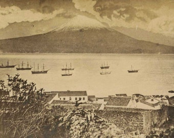 Island of Pico  from Horta FAPAL Azores