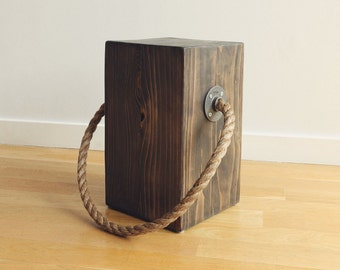 BLACK DAHLIA Rope Stool/Bedside Table