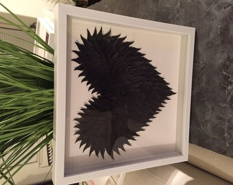 3D Heart Feather Shadow box