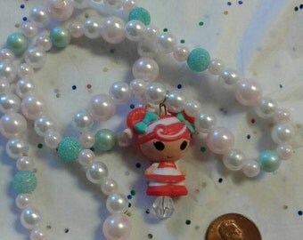 Peppermint Christmas lalaloopsy necklace