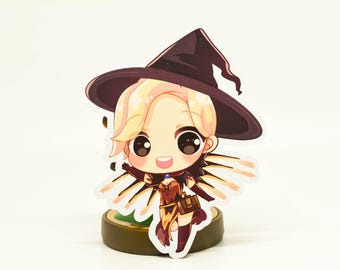 Witch Mercy Stickers and Magnet Overwatch Halloween skin