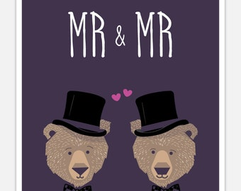 Gay Wedding Card - Funny Wedding Card - Mr. and Mr.