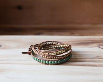 3 Rows Wrap Bracelet