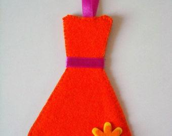 Orange Dress Bookmark