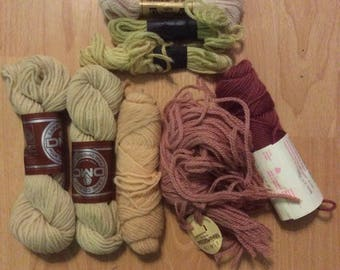 4 ounces 100% wool Needlepoint Yarn Beiges Rose Tans Neutrals