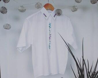Sweet White Shirt Floral