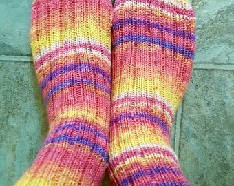 Socks, Classic ribbed in sunset