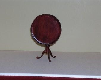 Vintage Miniature Mahogany Tilt Top Table