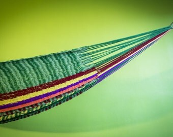Thai cotton braided V-wave hammock-totally handmade