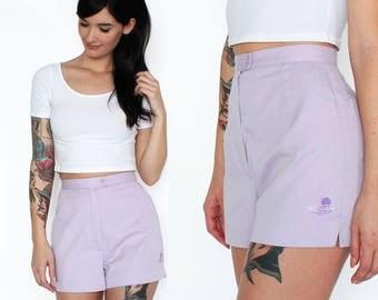 Purple high waisted shorts | Etsy