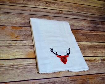 Deer Baby Burp Cloth- Baby Burp Rag- Baby shower gift- Personalized baby gift