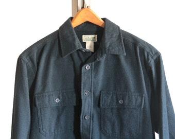 LL Bean men's chamois shirt in navy blue