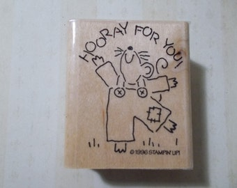 Vintage Stampin Up Hooray for You with Mouse