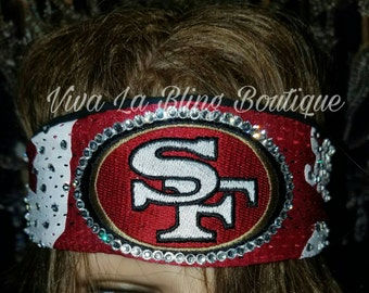 Official NFL San Francisco 49ers Jersey Bling Custom Head Band