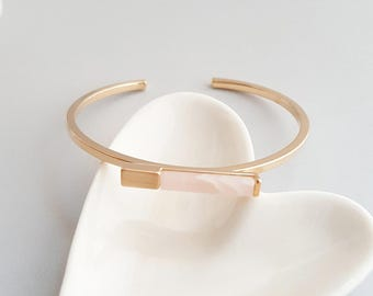 Pink Stone Gold Bracelet,Pink Stone Bracelet,Marble Bracelet,Pink Marble Bracelet,Geo Marble Bracelet,Pink Stone Bracelet,Minimal Bracelet