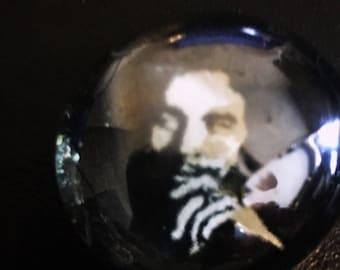 Bob Marley Rasta Glass Pebble Magnet/Pin