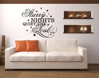 Starry Nights Quiet the Soul Cabin Vinyl Wall Quote