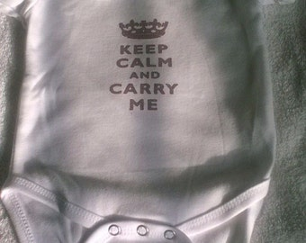 Keep Calm and Carry Me Girls Onesie