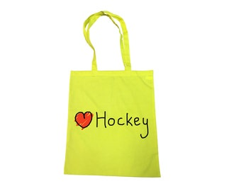 Love hockey cotton carrier tote bag