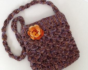 Crocodile stitch - crochet bag