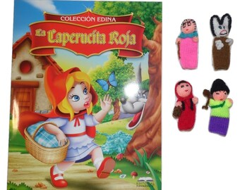 Little Red Riding Hood Tale in Spanish + Matching Finger Puppets