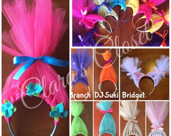 Trolls Birthday, Party Favors, Princess Poppy, Trolls Headband, Headband, Trolls Hair, Trolls Dress up