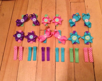 Ribbon Hair Clips, Flowers, and Bows