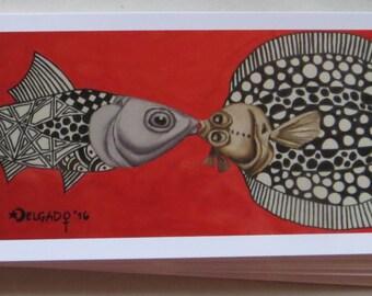 """Postcard: """"Philippinischer Bangus <3 Hamburger Scholle"""""""