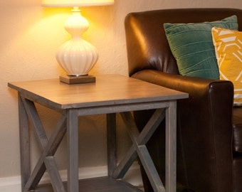 2!! Rustic X End Tables