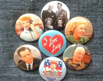 "I Love Lucy button set 1"" pinback Lucille Ball Ricky Ricardo"