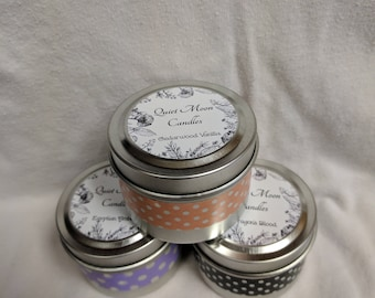 3 pack 2oz Soy Candle Tins