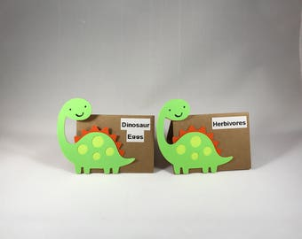 Dinosaur Food tags