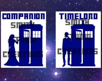Doctor Who Companion & Timelord Wedding Chair Hangings - 9th, 10th, and 11th Doctors