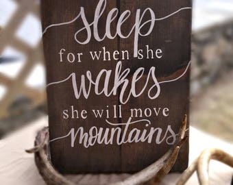 Girls' bedroom quote sign