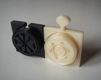 Pasta stamp in puzzle shape - for Croxetti - 3D printed