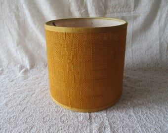 Original 1970s retro mustard yellow hessian lamp shade mustard eames era 1970 interior design retro revival orange gold mid century modern