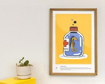 Pharmacopoeia - educational poster - threats on wildlife