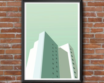 Poster graphic design poster architecture ArchiImmeuble illustration