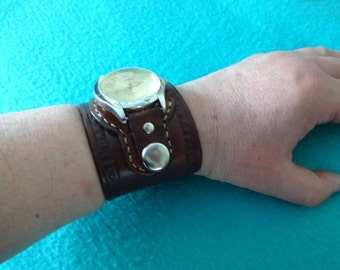 Genuine Leather Watch Cuff