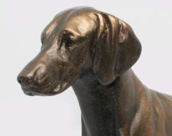 Weimaraner Standing - Small Cold Cast Bronze Dog Statue