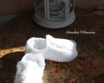 Mocassins for baby Baby loafers Crochet baby shoes Crochet mocassins Baby mocassins White baby shoes White mocassins