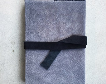 Grey Leather Book Cover and Art Diary