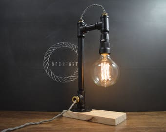 AMPERE black pipe lamp