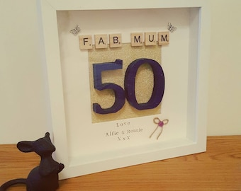 Special Birthday/occasion frame. Colours/wording can be personalised to suit individual needs. Gorgeous design and makes a great gift!
