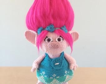 Poppy - Trolls Amigurumi Crochet Pattern