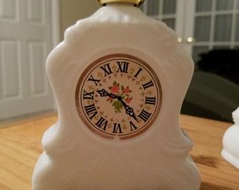Vintage Avon Cologne Bottle Milk Glass for Bath Oil