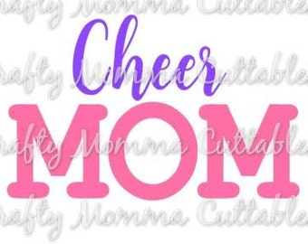 Cheer Mom SVG file // Cheerleader SVG // Cheer Mom Cut File // Cheer Mom SVG / Cut File / Silhouette File / Cutting File