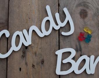 "3D - Label ""Candy Bar"" - Typo Decoration, Hardfibre"