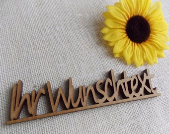 3D - lettering with individual text - type, decoration, Masonite