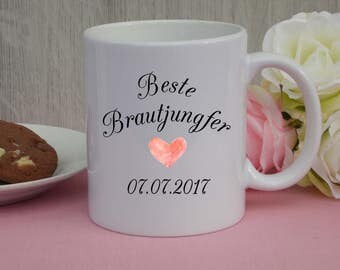 "Cup ""Best bridesmaid"" / cups / wedding"